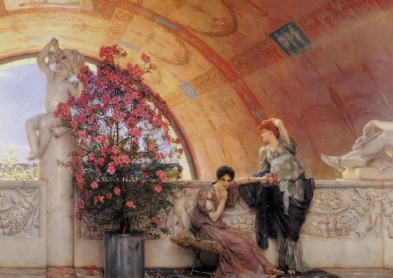 Alma-Tadema, Sir Lawrence: Unconscious Rivals. Fine Art Print/Poster. Sizes: A4/A3/A2/A1 (00658)